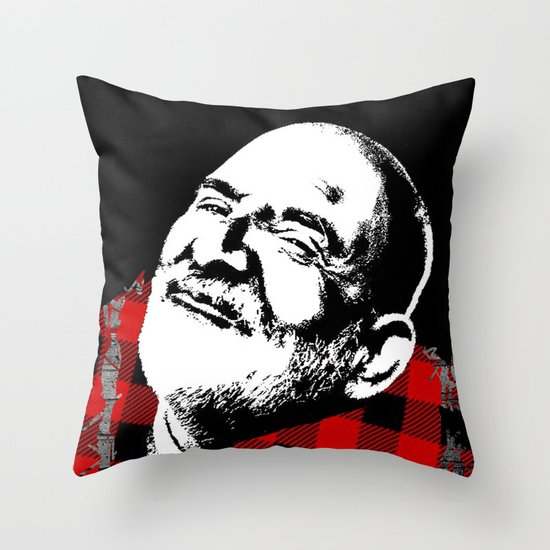Neem Karoli Baba Throw Pillow