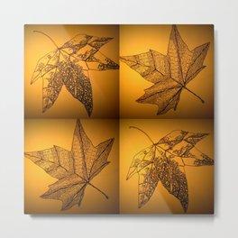 sepia leaf study Metal Print