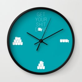 Get Your Shit Done Wall Clock