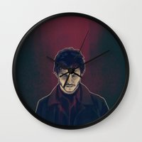 will graham Wall Clocks featuring Will Graham by margaw
