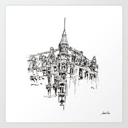 Urban Inkscape 11 Amsterdam Art Print