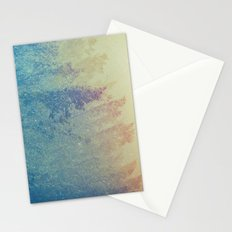 Fog Forest - Green Mountain Trees at Sunset Stationery Cards