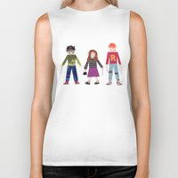 hermione Biker Tanks featuring Harry, Hermione, and Ron by Janna Morton