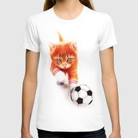 soccer T-shirts featuring Soccer Kitty by Isaiah K. Stephens