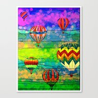 hot air balloons Canvas Prints featuring Hot Air Balloons #6 by Music of the Heart