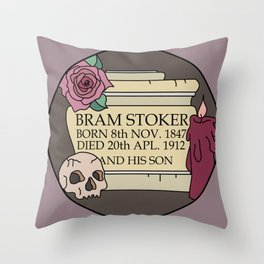 Remember Bram Stoker - Golders Green Crematorium - Dracula Throw Pillow