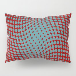 Polka dots with a twist (red) Pillow Sham