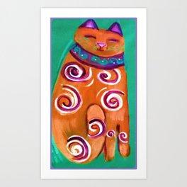 Cat Contemporary Art Print