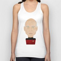 picard Tank Tops featuring Captain Picard by Sam Del Valle