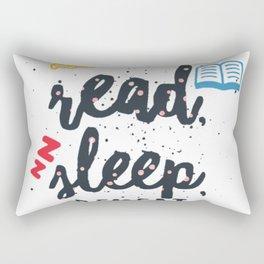 eat read sleep Rectangular Pillow