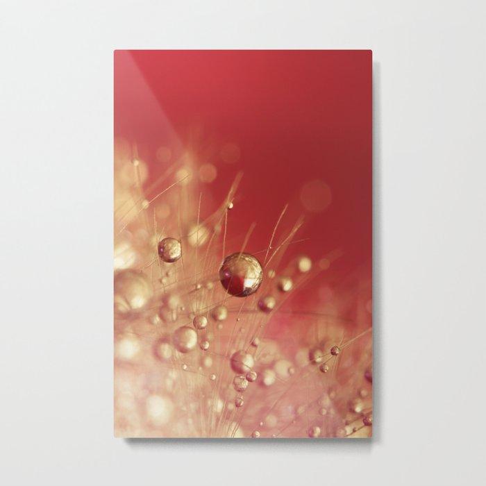 Cherry Drops Metal Print