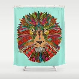 lion mint Shower Curtain