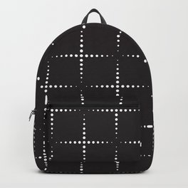 Dotted Squares Geometric Shape Pattern Backpack