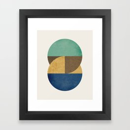Circle color pieces abstract geometric Framed Art Print