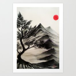 Mountains No2 Art Print