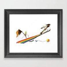 The Ski Jumper Framed Art Print