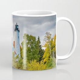 Michigan Upper Peninsula Lighthouse Autumn Great Lakes Landscape Coffee Mug