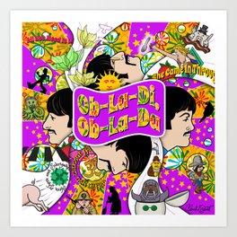 Ob-La-Di, Ob-La Da (Purple and Yellow) Art Print