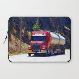 Truckers Big Rig Fuel Tanker Truck Laptop Sleeve