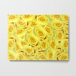Candlelight Roses Metal Print