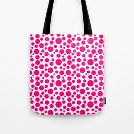 Winter Sky Pink Random Circles Tote Bag