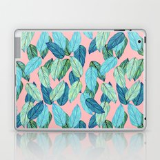 Tropical leaves on Pink Laptop & iPad Skin