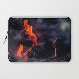 Lava Flowing off the Rocks Laptop Sleeve