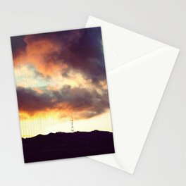 San Francisco Sutro Tower with Moody Clouds Stationery Cards