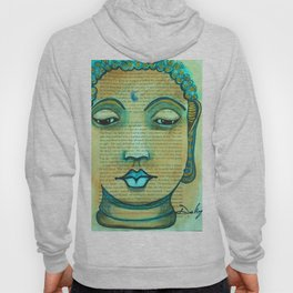 Buddha On a Book Page Hoody