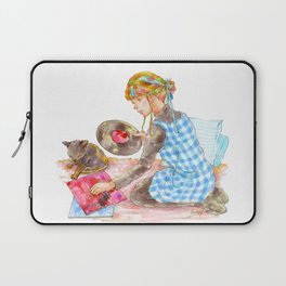 A girl with a kitten vol.2 Laptop Sleeve