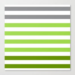 Stripes Gradient - Green Canvas Print