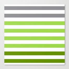 Stripes Gradient - Green Canvas Print