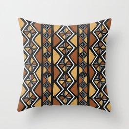 African mud cloth Mali Throw Pillow