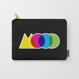 Mood Meme Colorful Geometric Typography Carry-All Pouch