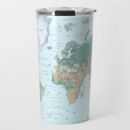 The World [Atlas] Shaded Relief Map Travel Mug
