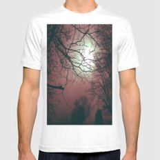Day Moon Mens Fitted Tee MEDIUM White