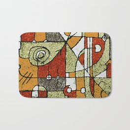 Multicolored Abstract Tribal Print Bath Mat