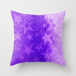 Purple Starshine Throw Pillow