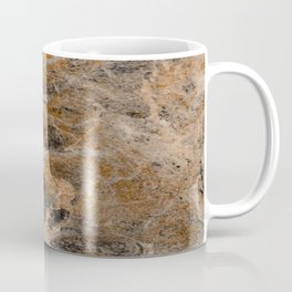 Rusting Marble - Abstract Marble Effect Painting in gold, bronze, black and white Coffee Mug