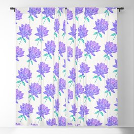 Sacred Lotus Blossom – Amethyst Turquoise Blackout Curtain