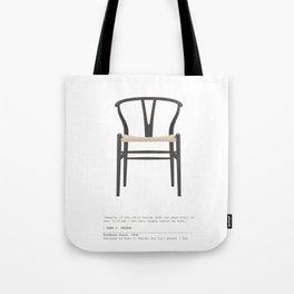 Wishbone Chair - Black Tote Bag