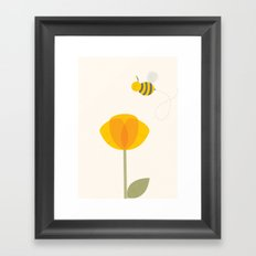Bee a Flower Framed Art Print