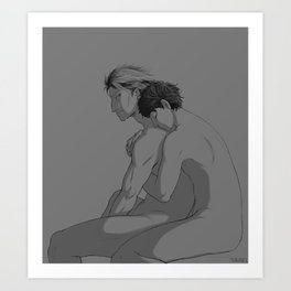 the only one to see him broken Art Print