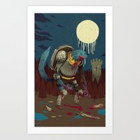medieval Art Prints featuring medieval werewolf by Louis Roskosch