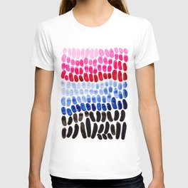 Blue And Magenta Complementary Color Palette Natural Patterns Colorful Watercolor Abstract Art Mid C T-shirt