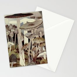 Vintage Mushroom Diagram Stationery Cards