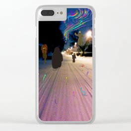 Snow Road Clear iPhone Case