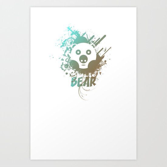 Bear | Zoo serie Art Print