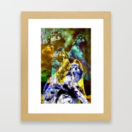THE ANGELS CALL YOUR NAME Framed Art Print