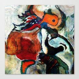 Orange Abstract Art / Surrealist Painting Canvas Print